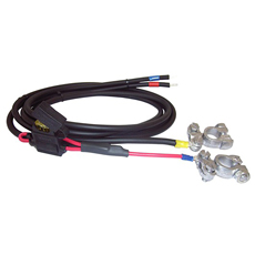 Battery cable with 20 A fuse, battery terminals and ring cable shoe M6