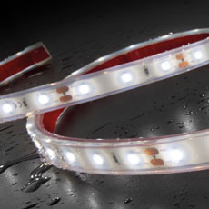 LED strip SH-5.622, 24 V DC, 2 m, flexible, self-adhesive, with connecting cable